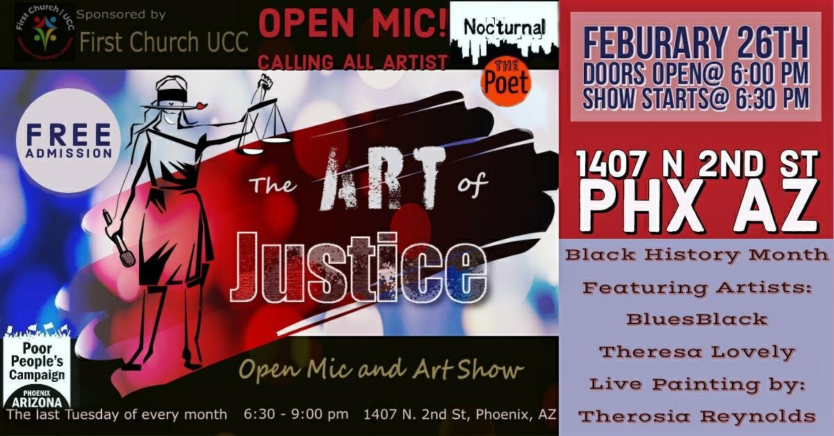 Art of Justice Open Mic and Art Show