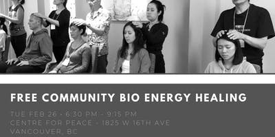 Free Community Bio Energy Healing