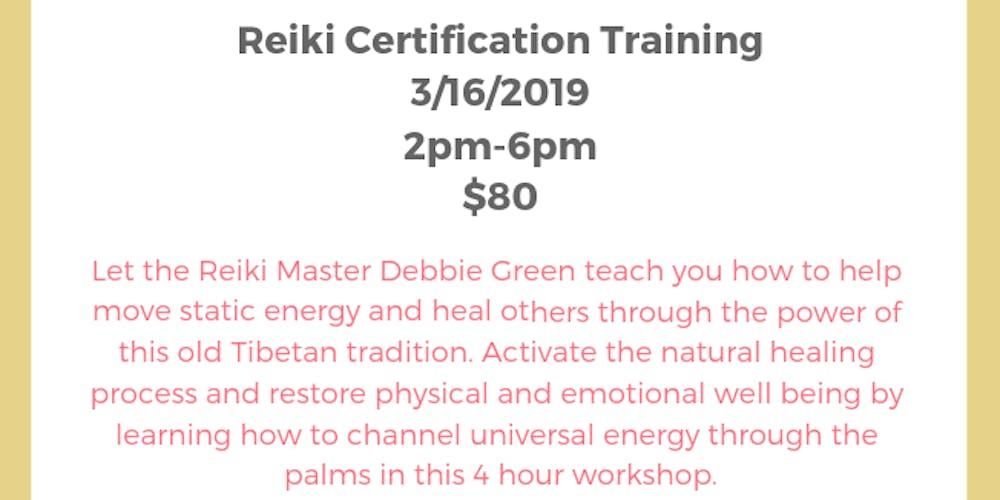 Level 1 Reiki Certification Tickets Sat Mar 16 2019 At 200 Pm