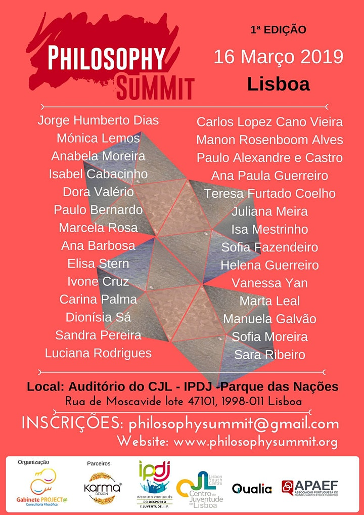 imagem Philosophy SuMMit Lisbon/Portugal 2019