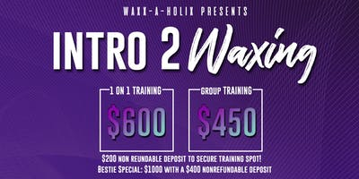 Intro 2 Waxing: Group Training