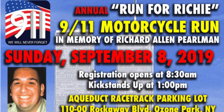 "9/11 Memorial ""Run for Richie"" Motorcycle Ride tickets"