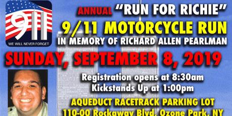 """9/11 Memorial """"Run for Richie"""" Motorcycle Ride boletos"""
