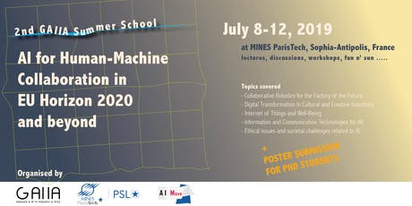 Summer School AI for Human-Machine Collaboration in EU Horizon 2020 and beyond billets