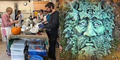 Green Man!- Full day Sculpture Workshop using Pal Tiya Premium