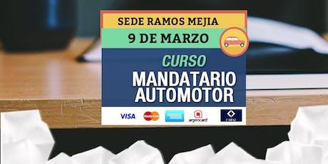 CURSO Mandatario Automotor en RAMOS MEJIA entradas