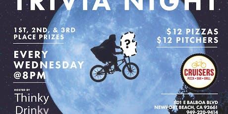 FREE TRIVIA, Wednesdays at Cruisers - Newport Beach tickets