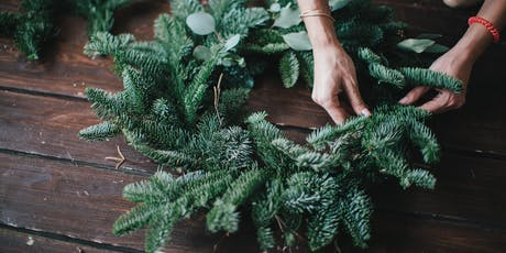 Christmas wreath making workshop in Sussex tickets