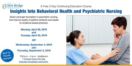 Insights Into Behavioral Health and Psychiatric Nursing  tickets