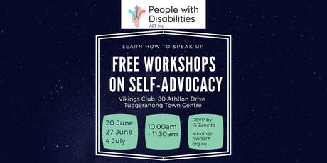 20 June - Free Self Advocacy Workshop - learn how to speak up for yourself tickets