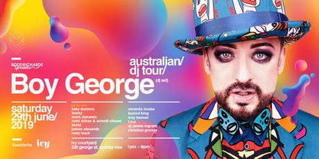 BOY GEORGE (DJ Set) Sydney tickets