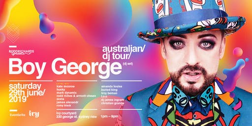 BOY GEORGE (DJ Set) Sydney