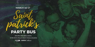 St. Patrick's Day Party Bus