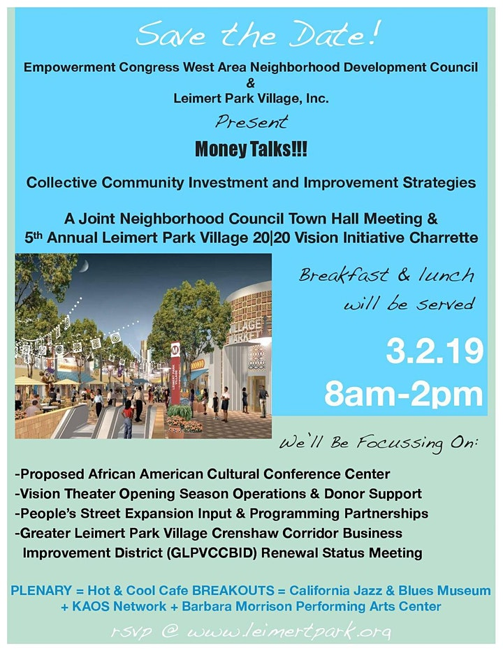 Money Talks!!!  Collective Community Investment and Improvement Strategies image