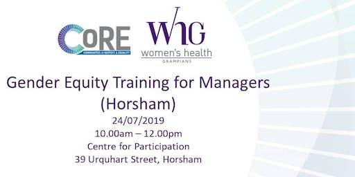 Gender Equity Training for Managers (Horsham)