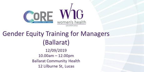 Gender Equity Training for Managers (Ballarat) tickets