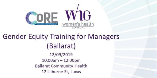 Gender Equity Training for Managers (Ballarat)