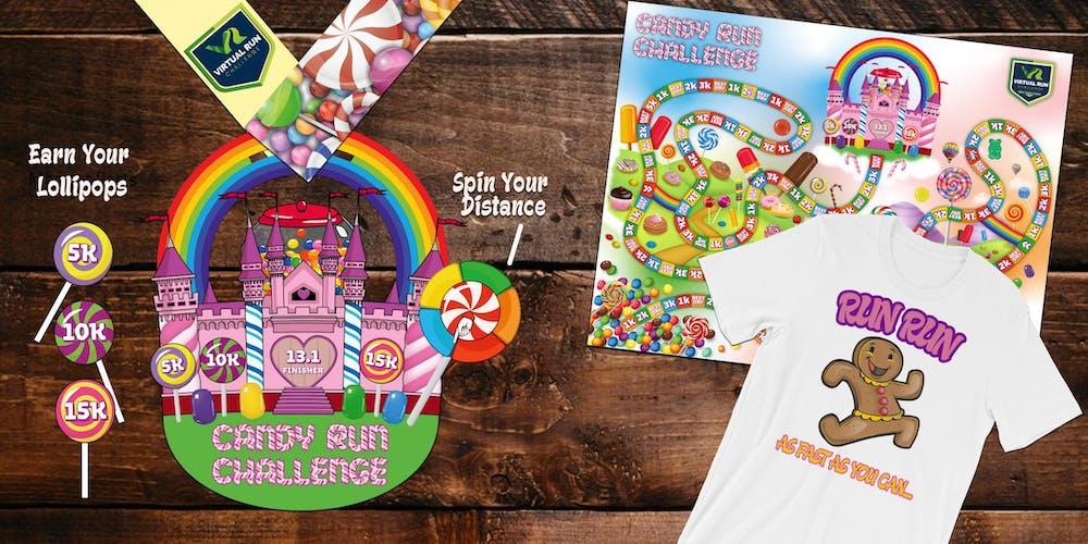 Candy Run Walk Challenge 5k 10k 15k And Half Marathon Mcallen