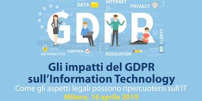 Gli impatti del GDPR sull'Information Technology