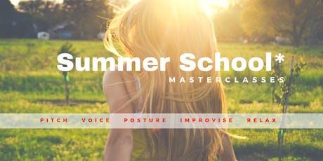 Summer School 2019 - 3 masterclasses naar keuze tickets