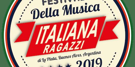 Audición, Festival de la Música Italiana Ragazzi-Edición Niños-En Español-Sede Rosario  entradas
