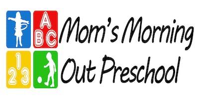 Mom's Morning Out Preschool 2019-2020 Registration