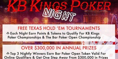 KB Kings Poker League at Boardwalk 11 tickets