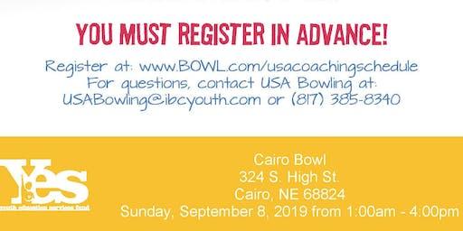 FREE USA Bowling Coach Certification Seminar - Cairo Bowl, Cairo, NE