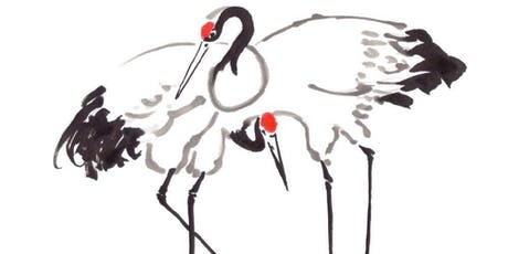 Japanese ink & watercolour painting 4-day course - Large Birds- Roosters, Herons, Cranes, Peacocks - Mixed Level tickets