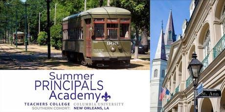 Summer Principals Academy New Orleans, Teachers College