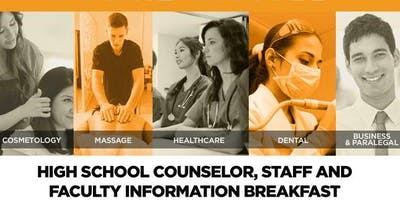 IBMC College High School Counselor, Staff and Faculty Information Breakfast   Spring 2019