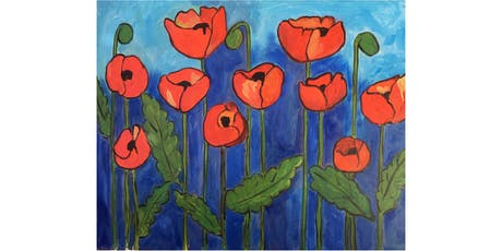 Poppies Paint & Sip Night - Wine, Beer Included tickets
