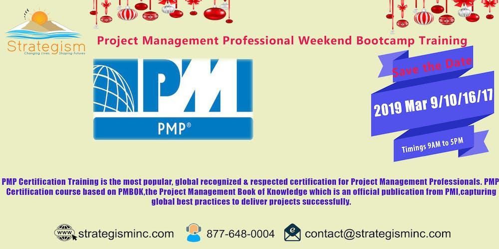 Pmp Live Weekend Online Bootcamp For Oceanside Mar 91016172019