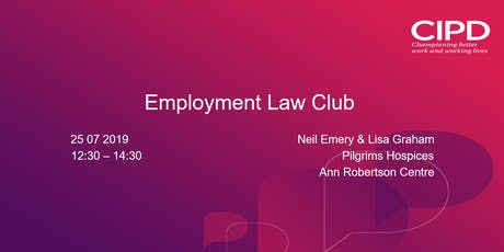 Employment Law Club Oct 2019 tickets