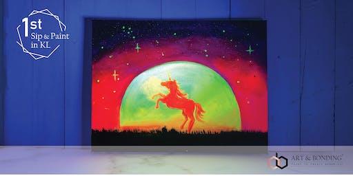 霓虹彩绘派对:发光独角兽