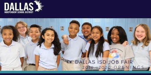 DALLAS ISD TEACHER JOB FAIR July 18, 2019