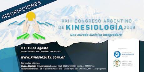 XXIII Congreso Argentino de Kinesiología entradas