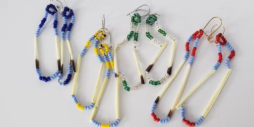 Porcupine Quill Earring Workshop with Lou & Cathy Gilson
