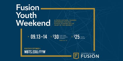 Fusion Youth Weekend 2019 | Sept. 13 and 14