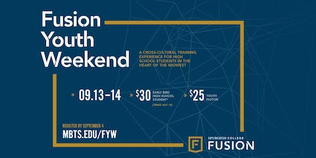 Fusion Youth Weekend 2019 | Sept. 13 and 14 tickets