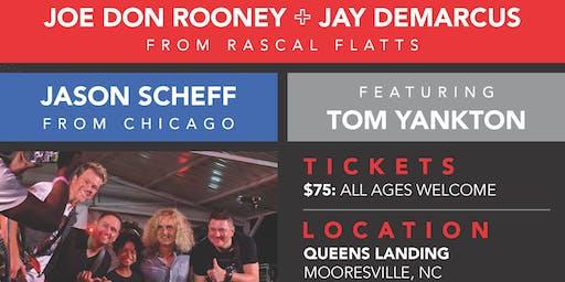 """Band of Golfers"" Rascal Flatts' Jay DeMarcus + Joe Don Rooney and Chicago's Jason Scheff"