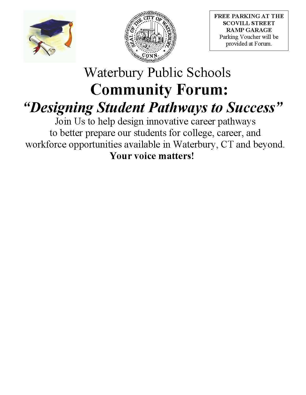 "WPS Community Forum: ""Designing Student Pathw"