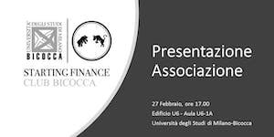 Presentazione Starting Finance Club Bicocca