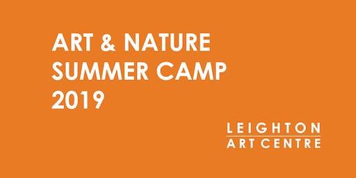 Week 7- Art & Nature Summer Camp 2019- Art Off the Walls!