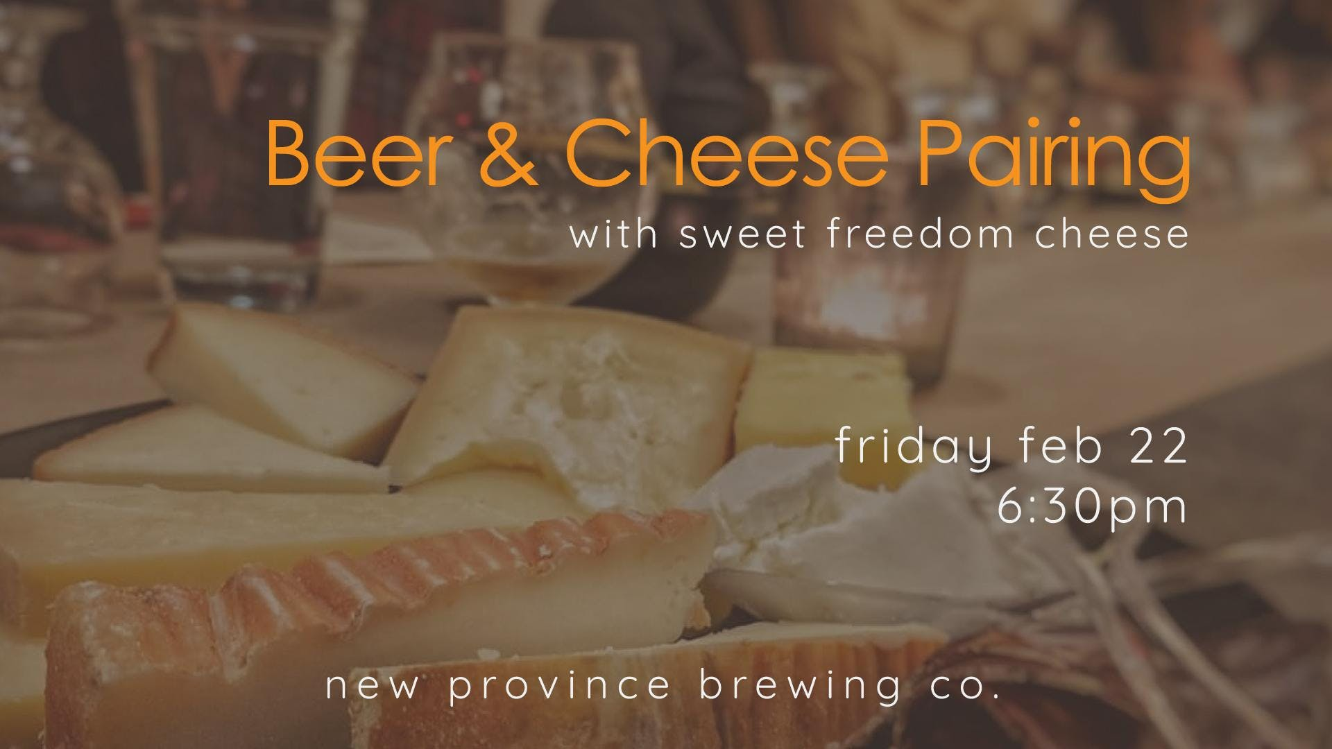 Beer & Cheese Pairing with Sweet Freedom Chee