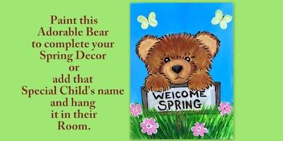 Paint an adorable Spring Bear