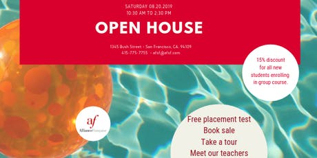 Open House at the Alliance Française de San Francisco - Saturday, August 17, 2019 tickets