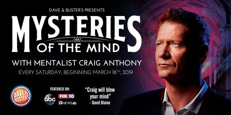 Mysteries of the Mind - Magic Show with Mentalist Craig Anthony tickets