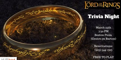Lord of the Rings Trivia Night