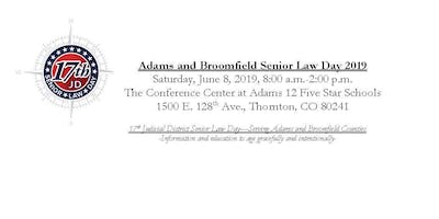 Sponsor Registration-Senior Law Day 2019, Serving Adams and Broomfield Counties